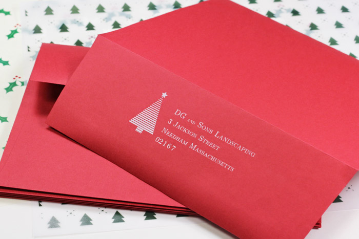 Top 5 holiday envelopes for your businesses bulk pack red envelopes for corporate holiday cards printed in white by lcipaper reheart Images