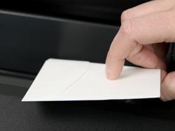 View Envelope Flap of Response Card Envelope In Printer