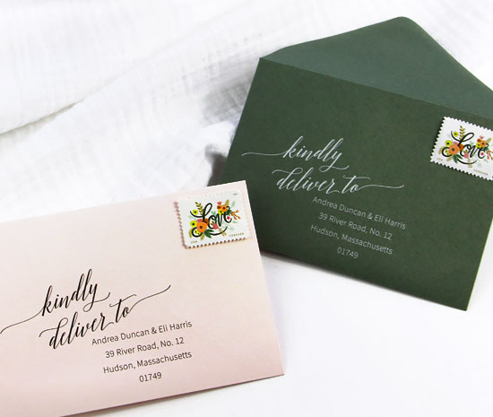 Download free wedding return address templates from LCI Paper. Print in black or order printed in white ink from LCI Paper.