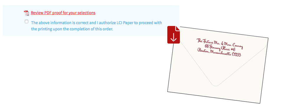 Download PDF proof of envelope addresses