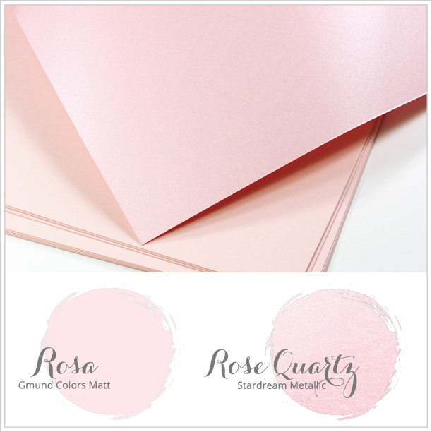 Close paper matches to Spring 2016 Pantone color Rose Quartz