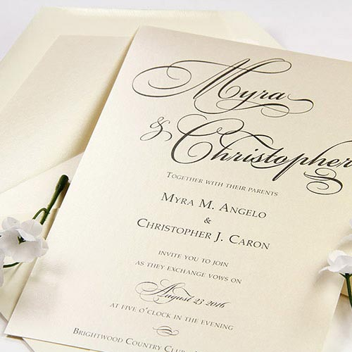 Simple DIY invitation - use LCI Paper wording guide and print instructions to make at home