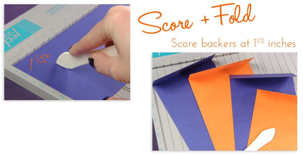 score backers for layered wedding programs with score board for straight lines