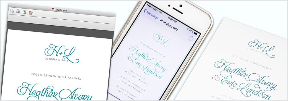 Invitation Colors On Screen Vs In Print