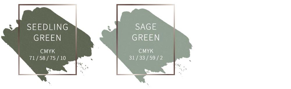 Sage green and seedling green - top wedding colors for 2019. Order sage and seedling paper and envelopes for invites from LCI Paper