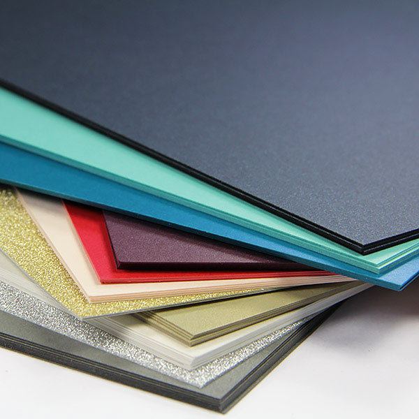 Silk, metallic, and glitter paper for adding shimmer and shine to invites and paper craft projects