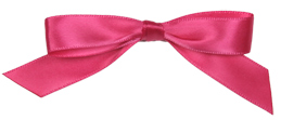 self adhesive pink satin pre tied bow