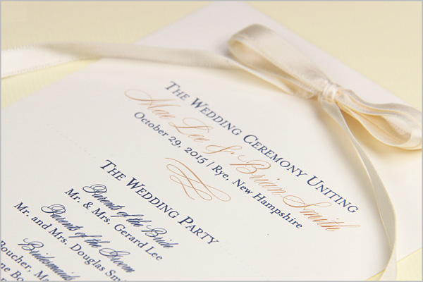 Wedding Ceremony Programs Stationery To Design Print Make Your Own - 5x7 wedding program template