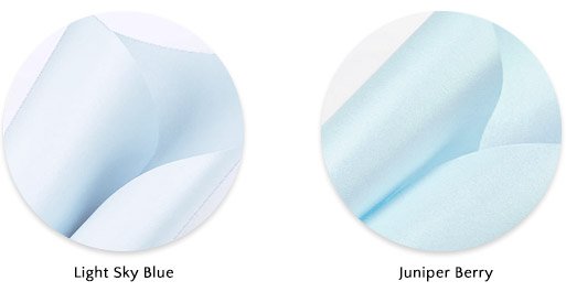 Baby blue metallic paper: Gmund Colors Metallics Light Sky Blue a good replacement for Aspire Petallics Juniper Berry