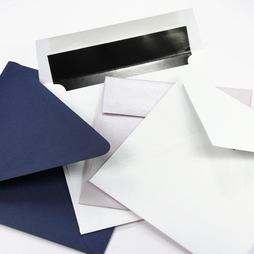 Straight, euro, baronial flap square envelopes