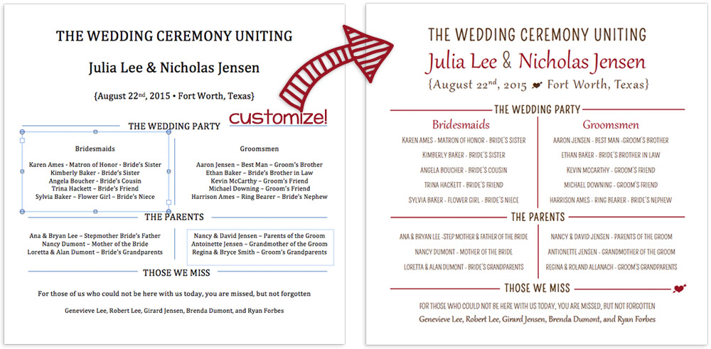 download and edit free program fan word print templates - Free Wedding Program Fan Templates