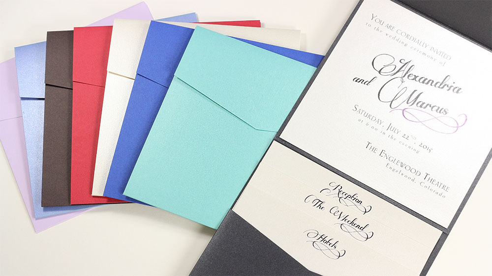 Square Pockets are perfect for enclosing a card or invitation. Call us or shop online at LCIPaper.com