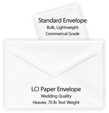 Wedding Quality Commercial Grade Envelopes