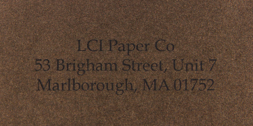 stardream bronze sample printed envelope