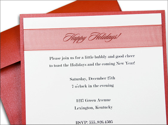 homemade holiday invitation, layered with Stardream Jupiter and Crystal