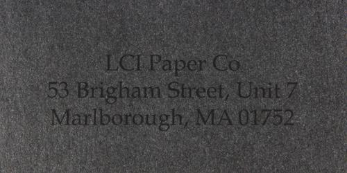 stardream onyx sample printed envelope
