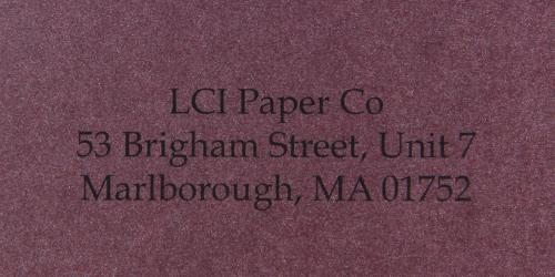 stardream ruby sample printed envelope