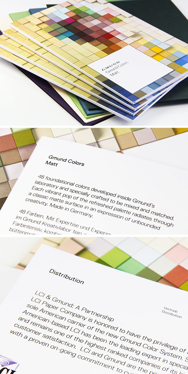 Gmund Color System swatchbook and paper now available at LCIPaper.com