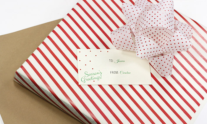 Easy print holiday gift tags. Free template in post