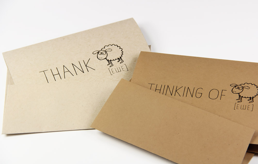 Thank ewe and thinking of ewe cards on Neenah Environment