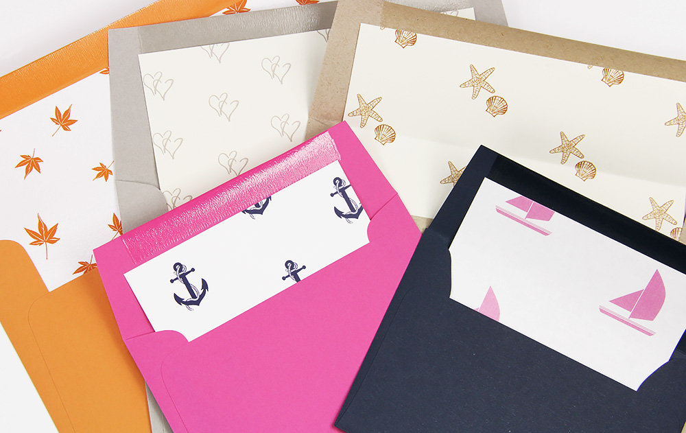 Sneak PeekCustom Printed Envelope Liners!