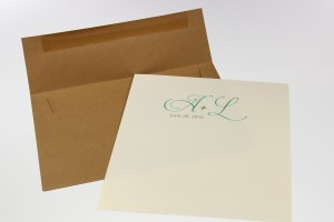 A7 Kraft envelope with a trimmed liner