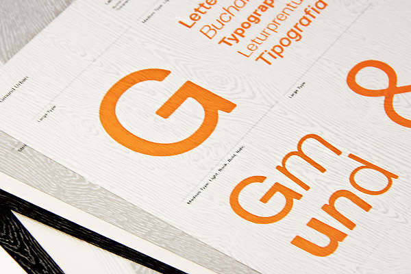 Gmund Urban Brasilia Dust printed with letterpress