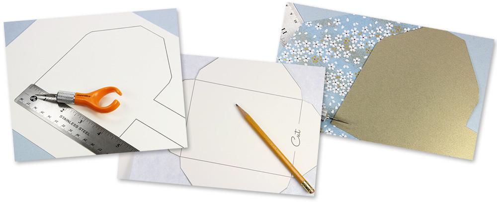 Make Your Own Patterned EnvelopesTemplates Instructions - Make your own envelope template