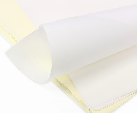 Vellum in white and cream