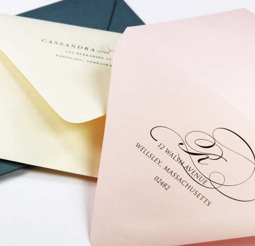Order Blank Or Professionally Printed And Addressed Wedding Envelopes