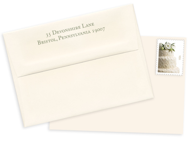 ecru wedding envelopes