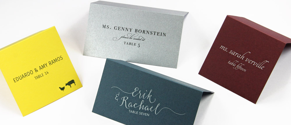 Order wedding place cards, seating cards, blank or printed from LCIPaper.com