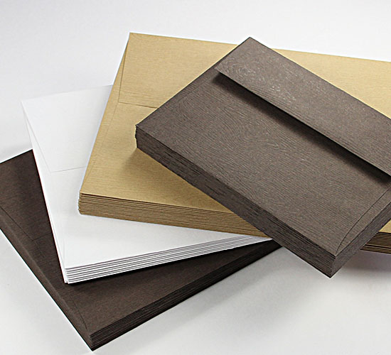 Wood Grain Envelopes