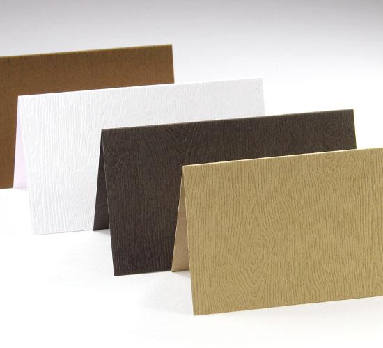 Wood Grain Blank Cards