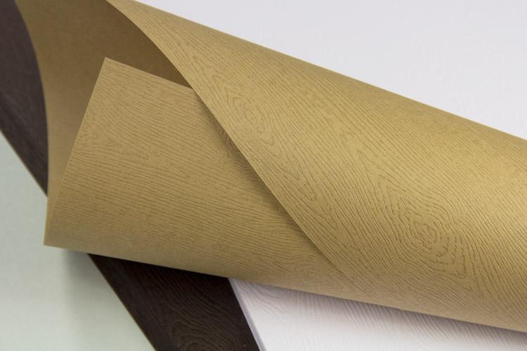 Text weight wood grain paper from Gmund Savanna collection