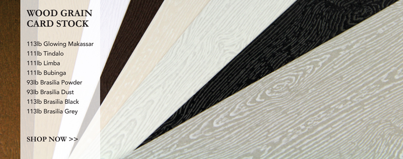 thick & heavily embossed wood grain card stock in variety of colors from LCI Paper