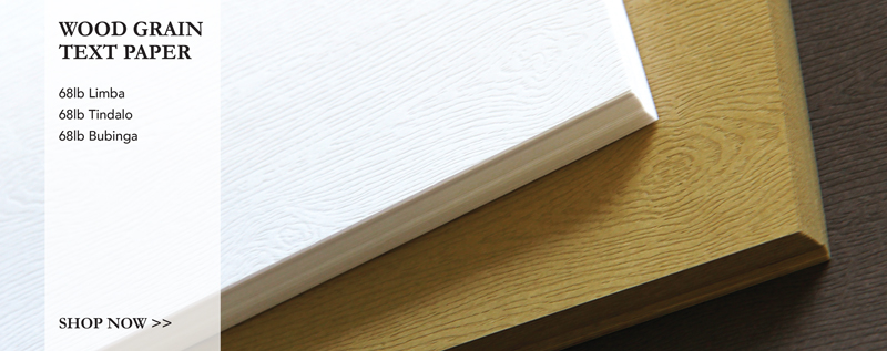 wood grain embossed text paper in a variety of colors from LCI Paper