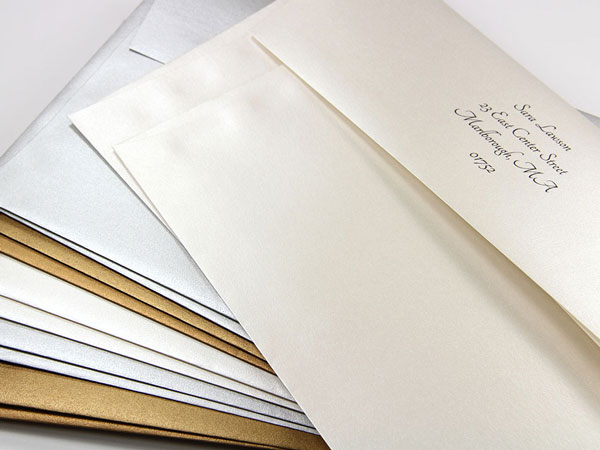 Gold Lined Inner Outer Envelopes Jumbo Radiant White LCI Paper