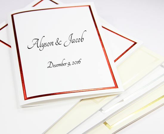 foil border wedding programs printable lci paper