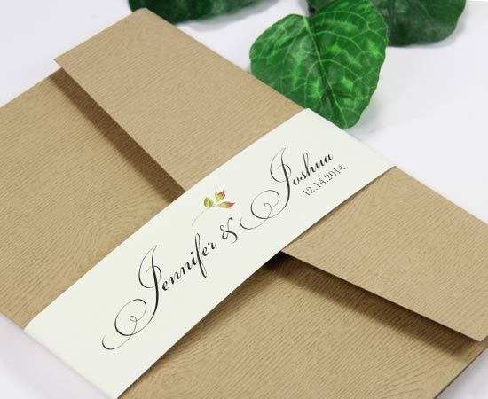 Invitation Belly Bands, Paper Bands To Wrap Invites