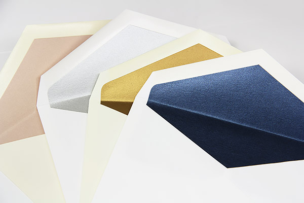 Black Envelopes With Metallic Gold Lining - LCI Paper on