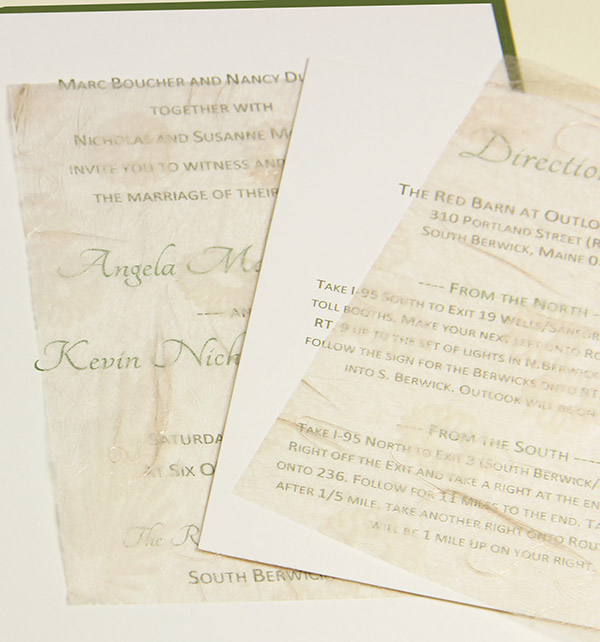 Wedding Invitation Tissue Tissue Paper Inserts