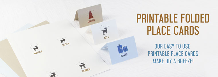 Order 4up Printable Folded Place Cards simply Customize Free Template, Print and Separate