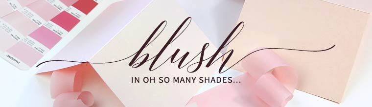 Shop blush paper, envelopes and cards for wedding invitations and stationery