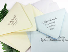 A9 Inner & Outer Wedding Envelopes