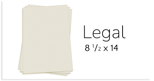 8 1/2 x 14 Card Stock Paper