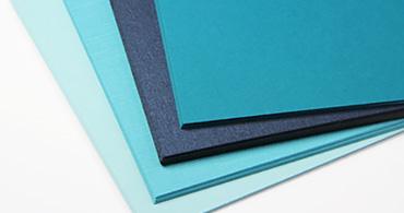 Blue Paper & Blue Envelopes