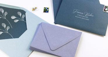 Dusty Blue Envelopes