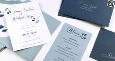 Dusty Blue Paper & Envelopes