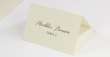 Printable Embossed Place Cards